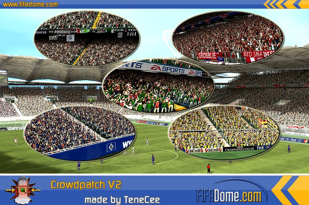 Улучшенные болельщики в FIFA 10.